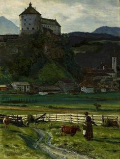 View of Kufstein Castle by Aleksander Gierymski, 1889 (PD-art/old), Muzeum Narodowe w Warszawie (MNW) Classic Paintings, Paintings I Love, Andreas Hofer, Basic Painting, Hotels Near, Nocturne, Landscape Paintings, Landscapes, Farm Life