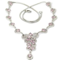 Sterling Silver Pink Kunzite Gemstone & AAA White CZ Accent