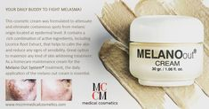 Mccm Medical Cosmetics presents MelanoOut. A daily gesture to combat skin imperfections of melanin origin at the skin level. Melanism, Cosmetic Companies, Active Ingredient, Im Not Perfect, Skincare, Presents, Medical, Cosmetics
