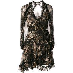 Zimmermann floral print dress (95.755 RUB) ❤ liked on Polyvore featuring dresses, black, floral printed dress, floral design dresses, flower pattern dress, zimmermann and botanical dress