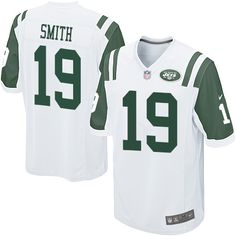 NFL New York Jets Devin Smith Youth Game White #19 Jerseys