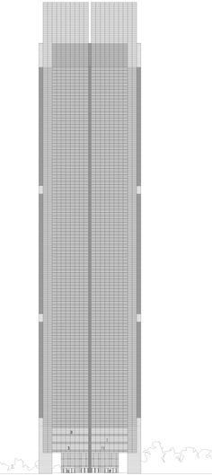 Mutua Tower. Drawing by allende arquitectos 2003