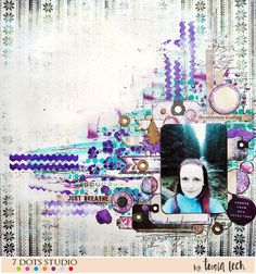 Layout with 7 Dots Studio Northern Lights collection and UmWowStudio products by Tusia Lech