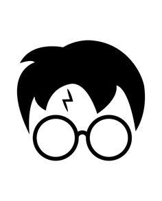 Harry Potter Lines, Harry Potter Face, Theme Harry Potter, Harry Potter Drawings, Harry Potter Birthday, Harry Potter Hogwarts, Hogwarts Silhouette, Harry Potter Silhouette, Harry Potter Stencils