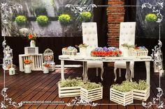 Mesa de novios Wedding Decorations, Table Decorations, Ideas Para, Pastel, Display, Preserves, Weddings, Furniture, Home Decor