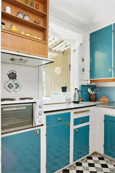 Cuisine bleu gris, canard ou bleu marine ? Code couleur et idées de ...