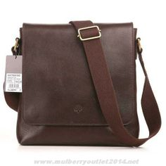 2014 Mulberry Mens Classic Natural Leather Messenger Bag Dark Coffee For  Cyber Monday 0b84331166ef7