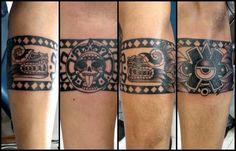 Mayan Tattoos, Aztec Tribal Tattoos, Mexican Art Tattoos, Aztec Art, Badass Tattoos, Sexy Tattoos, Body Art Tattoos, Tattoos For Women, Band Tattoo Designs