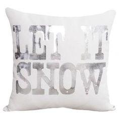 Snowfall Pillow in White