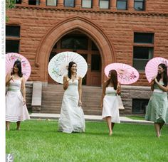 Parasols are so much fun for wedding pictures!