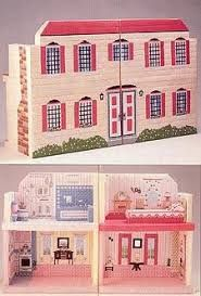 Image result for stitch doll furniture in plastic canvas free pattern