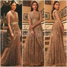 Yay or Nay : Aditi Rao Hydari in Sabyasachi Indian Wedding Gowns, Indian Gowns Dresses, Indian Bridal Outfits, Indian Bridal Fashion, Indian Fashion Dresses, Dress Indian Style, Indian Designer Outfits, Wedding Dresses, Sabyasachi Gown