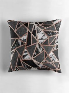 This modern and elegant faux printed rose gold, black glitter, black foil, and black and white marble geometric triangles pattern is perfect for the trendy and stylish woman. Its contemporary and swanky print is great for many gifts and occasions. Enjoy this ritzy and glamorous design for your next purchase! • Also buy this artwork on home decor, apparel, stickers, and more.