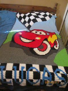 Crochet Cars Blanket
