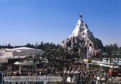 Christmas, 1969.  The big star atop the Matterhorn used to be the most iconic image in the park during the holiday season.  I have no idea why they stopped this particular tradition.