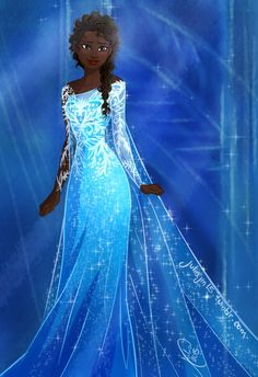 African American Elsa (I really don't want to use 'Black'. I'm sorry, I just really don't want to.)