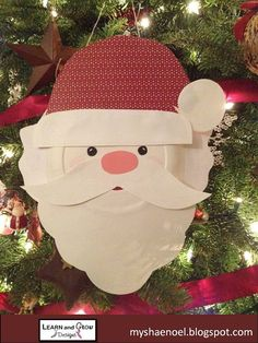 You are purchasing a darling Santa Paper Plate Craft Kit designed and created by Learn and Grow Designs.    This kit contains everything you need to