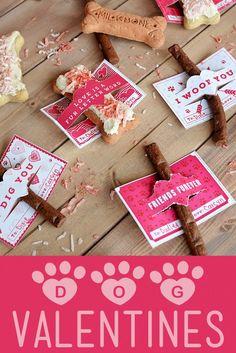 Dog Valentines | Peanut Butter Yogurt Milk-Bone #ad #TreatThePups