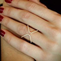 """Reverse X (Square)"" Diamond Ring - Plukka - Shop Fine Jewelry Online"