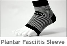 Feetures Plantar Fasciitis Sleeve - 6 zones of compression you can wear all day