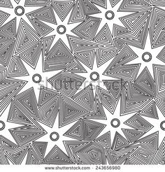white star vector seamless pattern - stock vector