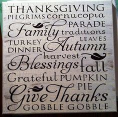 Thanksgiving canvas - Cricut