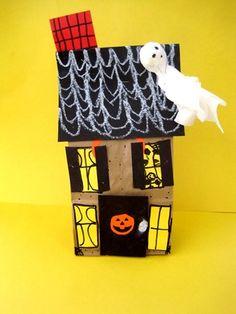 Gabriella2192's art on Artsonia  Hunted house, happy halloween