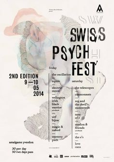 SWISS PSYCH FEST 2 - Gaël Faure Graphic Design