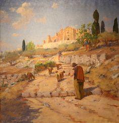 Le Chevrier.  Óleo sobre tela. Frédéric Montenard (Paris, frança, 1849 - 1926, Besse-sur-Issole, França). Encontra-se no Museu de Pays Brignolais, em Brignoles, França.