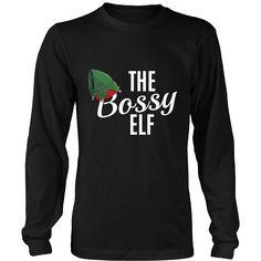 Bossy Elf Christmas Tshirt