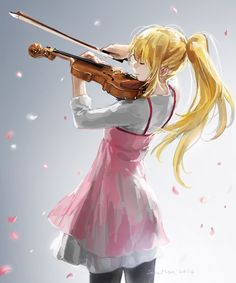 Your Lie in April. I am so glad the animators put a lot of effort into the violin and piano scenes. A pet peeve of mine is when people fail to make the bowing match the music.