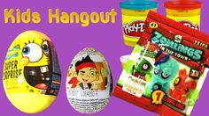 5 Surprise eggs opening blindbag Disney Spongebob Zomlings Jake and never land pirates Zomlings Kids Hangout come and play with toys Wrong Heads Eyes Hair An...