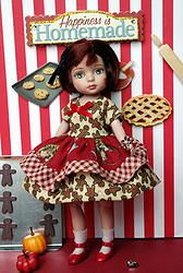 """Gingerbread ♥Luvin' From The Oven♥...a cute Gingerbread dress & Bloomers for a Tonner 8"""" Tiny Betsy McCall or 2014 Patsyette. Also fits Tiny Ann Estelle, Kickits, and Alice Kingsley with the Tiny Betsy body. New and cute and at my WEBSITE now. You can buy it now! Click on it to take you there. ONE SET IN STOCK!"""