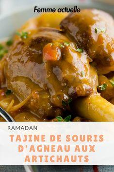 Découvrez notre recette du tajine de souris d'agneau aux artichauts. #ramadan