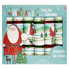 John Lewis Who Am I? Santa Crackers