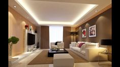 Astounding Unique Ideas: False Ceiling With Wood Lighting plain false ceiling ideas.False Ceiling Section Living Rooms false ceiling ideas tips.False Ceiling Luxury Home Theaters. Ceiling Design Living Room, False Ceiling Living Room, Living Room Designs, Gypsum Ceiling Design, Living Room Lighting Ceiling, Gypsum Design, Simple False Ceiling Design, Bedroom Ceiling, Bedroom Decor