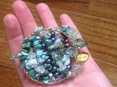 Turquoise Kyanite Quartz Labradorite FW Pearl Gemstone Owl Pendant | evezbeadz - Jewelry on ArtFire