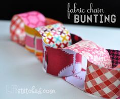 Fabric Chain Tutorial by LRstitched,