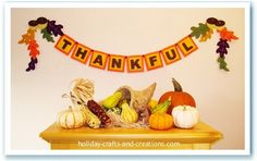 If you have been looking for Thanksgiving crafts to make, then this 'Thankful' garland would be a great project for you. This garland will add a splash of Thanksgiving color to your home! Thanksgiving Crafts To Make, Thanksgiving Photos, Thanksgiving Banner, Thanksgiving Decorations, Fall Crafts, Holiday Crafts, Crafts For Kids, Happy Thanksgiving, Holiday Fun