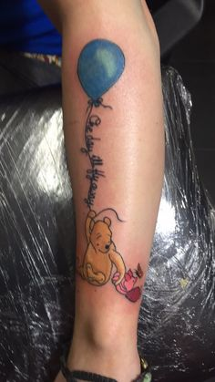 Winnie the Pooh an piglet. Meaningful tattoo for me and my younger brother