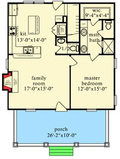 Mother in law house plans in law additions gerber for Cabin addition floor plans