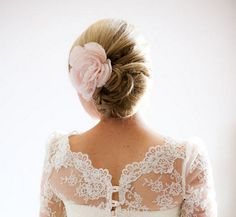 I just love the hair. I hope none of my bridesmaids are opposed to flowers in their hair :) Simple Elegant Wedding, Perfect Wedding, Dream Wedding, Elegant Updo, Wedding Things, Wedding Stuff, Wedding Hair Inspiration, Wedding Dress Necklines, Necklines For Dresses