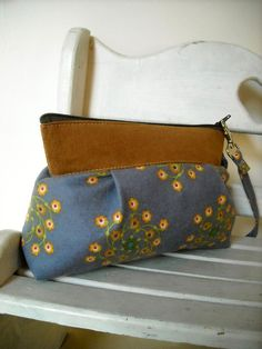 Sale  A Little Flower  Zipper Pouch with Clip by charmdesign, $20.00