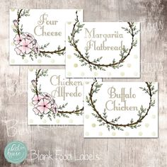 First Communion Blank Food Labels Instant Download by BethKruseCC