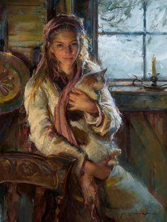 Kai Fine Art is an art website, shows painting and illustration works all over the world. Figure Painting, Painting & Drawing, Woman Painting, Fine Art, Beautiful Paintings, Romantic Paintings, Figurative Art, Cat Art, Female Art