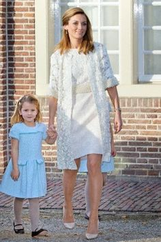 Dutch Princess Aimee with her daughter Eliana van Vollenhoven attend the christening of Prince Floris' son at Palace het Loo in Apeldoorn, The Netherlands, 09.11.2014.