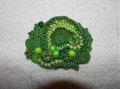 lydulienka. / brošňa Zelené zátišie