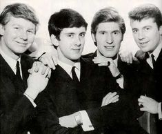 """The Searchers - Sweets For My Sweet Number One 8 Aug 1963 2 Weeks No 1 Another Liverpool """"Mersey Beat"""" group, but with a US song. Produced by Tony Hatch. The Searchers Band, Sweet Youtube, Gerry And The Pacemakers, 60s Music, British Rock, Beastie Boys, Rock Groups, British Invasion, Types Of Music"""