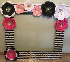 Baby Shower Ideas Brunch Kate Spade Ideas For 2019 Paris Birthday, 13th Birthday Parties, 60th Birthday, Birthday Party Decorations, 50th Party, Kate Spade Party, Photo Booth Frame, Party Photos, Bridal Shower