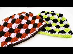 Muschel Mütze häkeln | Auffällige Mütze selber machen | 3-farbige Wintermütze - YouTube